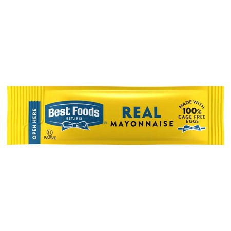 Best Foods Mayonnaise Stick Packets Real 0.38 oz, Pack of 210 To-Go Packets 0.38 oz (Pack of