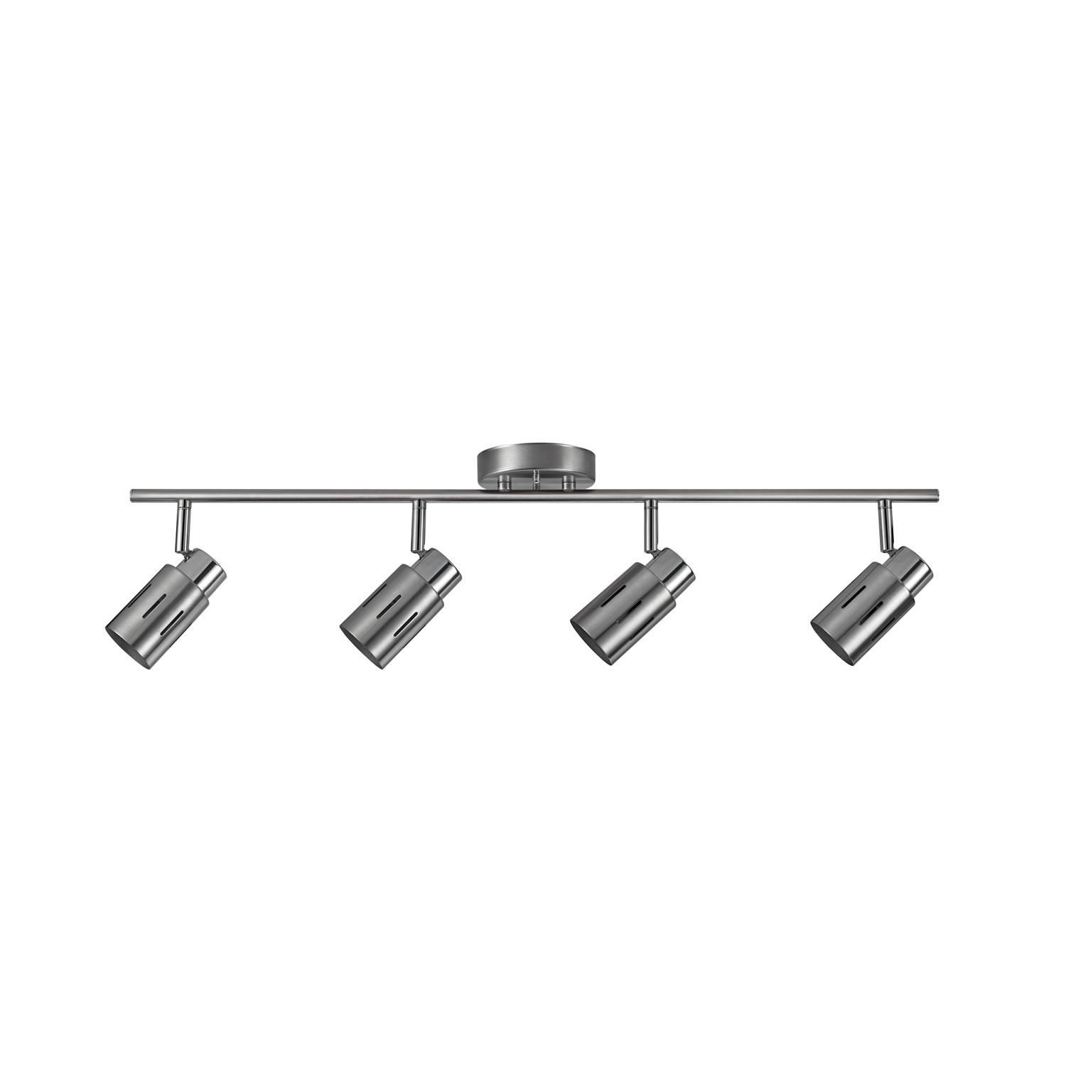 Globe Electric 26 Watt Kenneth 4-Light Brushed Steel LED Track Light, Bulbs Included by Globe Electric