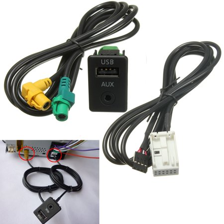 AUX USB Switch Cable For RCD510 310 300 RNS315 VW MK6 Golf