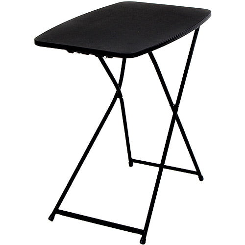 Mainstays 26 Adjustable Height Personal Folding Table Black