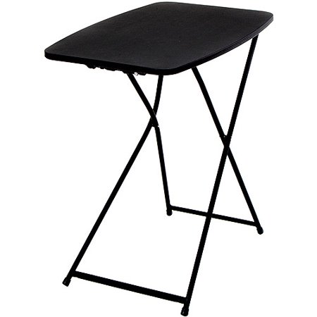 Mainstays 26 Adjustable Height Personal Folding Table Black Best