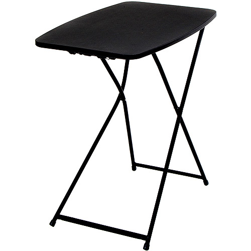 "Mainstays 26"" Adjustable Height Personal Folding Table, Black"