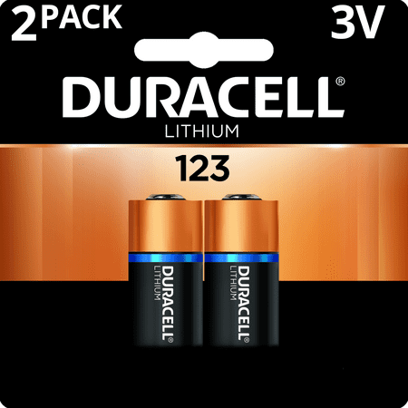 - Duracell 3V High Performance Lithium Battery 123 2 Pack