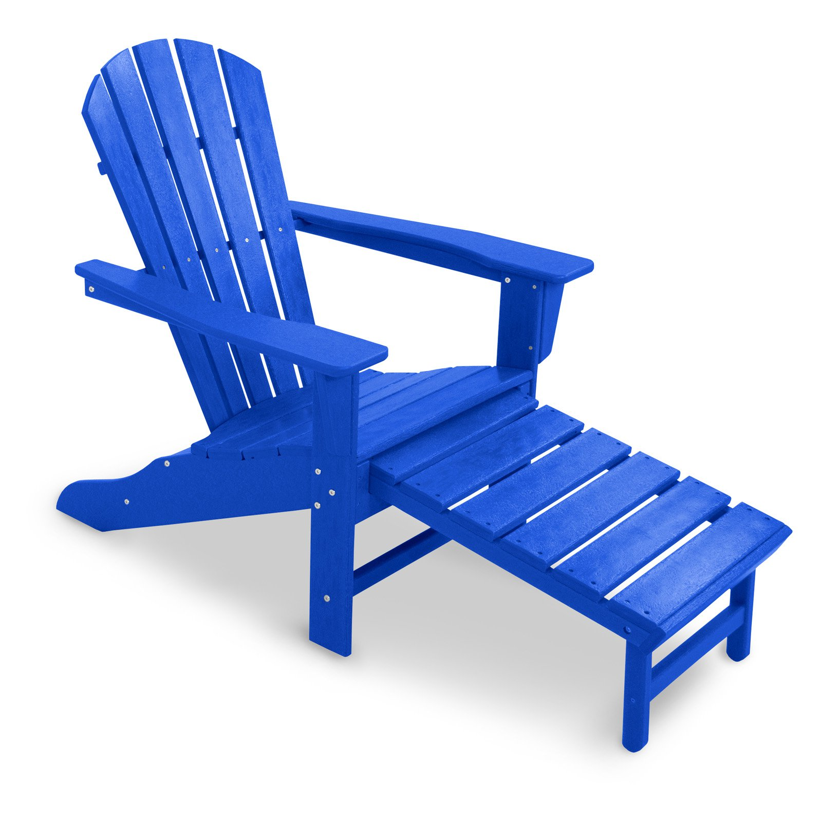 POLYWOOD® Recycled Plastic Big Daddy Adirondack Chair with Pull ...