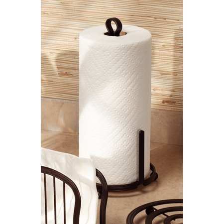 InterDesign York Lyra Paper Towel Holder for Kitchen Countertops, Bronze