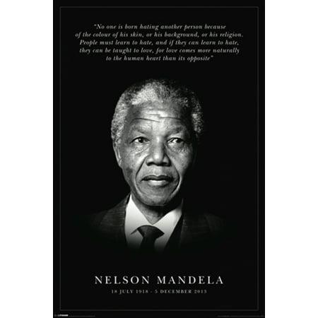 Nelson Mandela Commemorative Poster Print (24 x 36)
