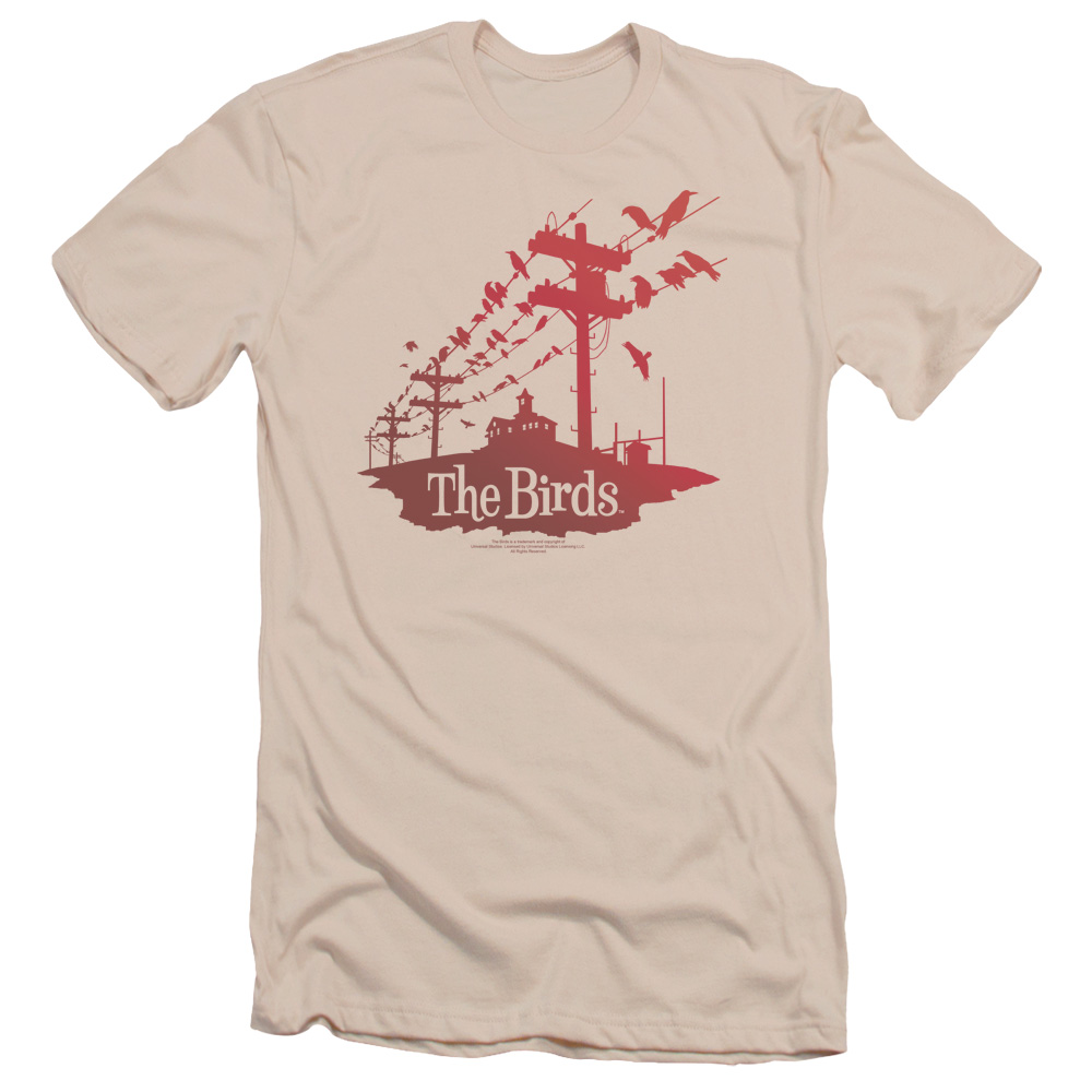 Birds On A Wire Mens Slim Fit Shirt