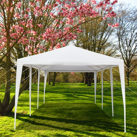 Pop Up Canopy Tent, Party Tent Wedding 10'x30' Outdoor Gazebo Canopy Wedding Party Tent, with 5 Removable Sidewalls Waterproof Sun Snow Rain Shelter Gazebo Canopy Tent,