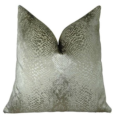 """Plutus Hidden World Silver Handmade Throw Pillow, (Double sided 22"""" x 22"""") - image 1 of 4"""