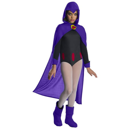 Teen Titans Go Movie Girls Raven Deluxe Halloween Costume (Easy Halloween Costumes For Teenage Girls Homemade)