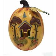 "9.75"" Harvest Blessings Pumpkin Decoration Halloween Decoration"