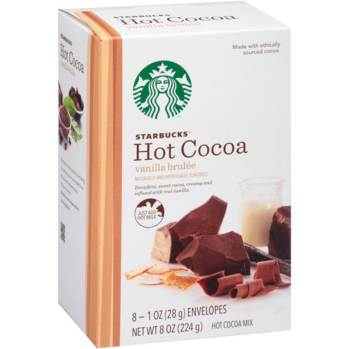 Starbucks Coffee Vanilla Brulee Hot Cocoa Mix, 1 oz, 8 count