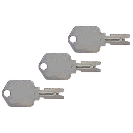 x3 Forklift Key for Clark,Yale, Daewoo, Gradall, JLG, Hyster, Crown, Komatsu, Caterpillar