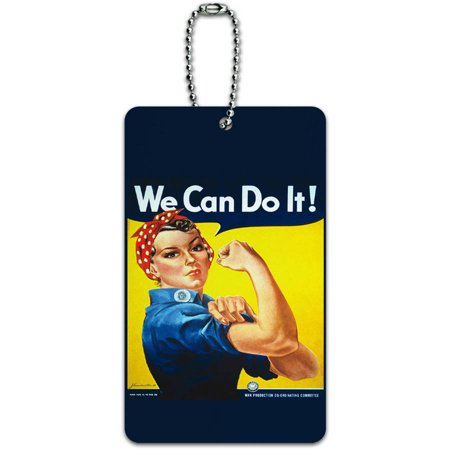 Rosie The Riveter War Poster ID Tag Luggage Card for Suitcase or Carry-On
