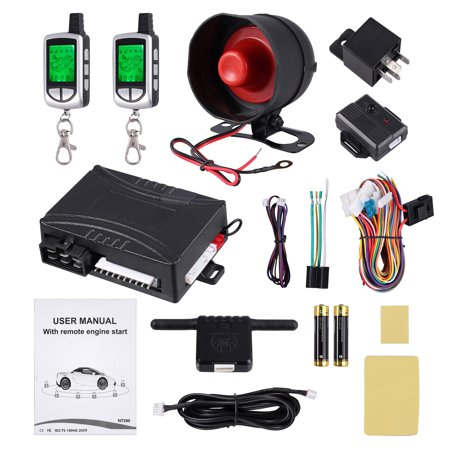 Telephone Entry System Lcd - ESYNIC 2 Way Car Anti-theft Pager LCD Remote Start Keyless Entry Alarm Security System