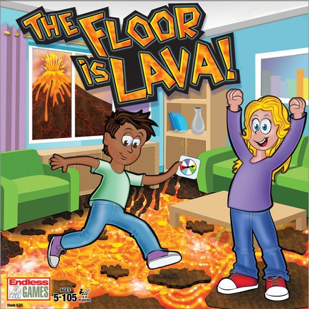 Halloween Games To Play At Home (The Floor Is Lava Game - Don't Touch It - Fun Play For 4-6 Players Age)