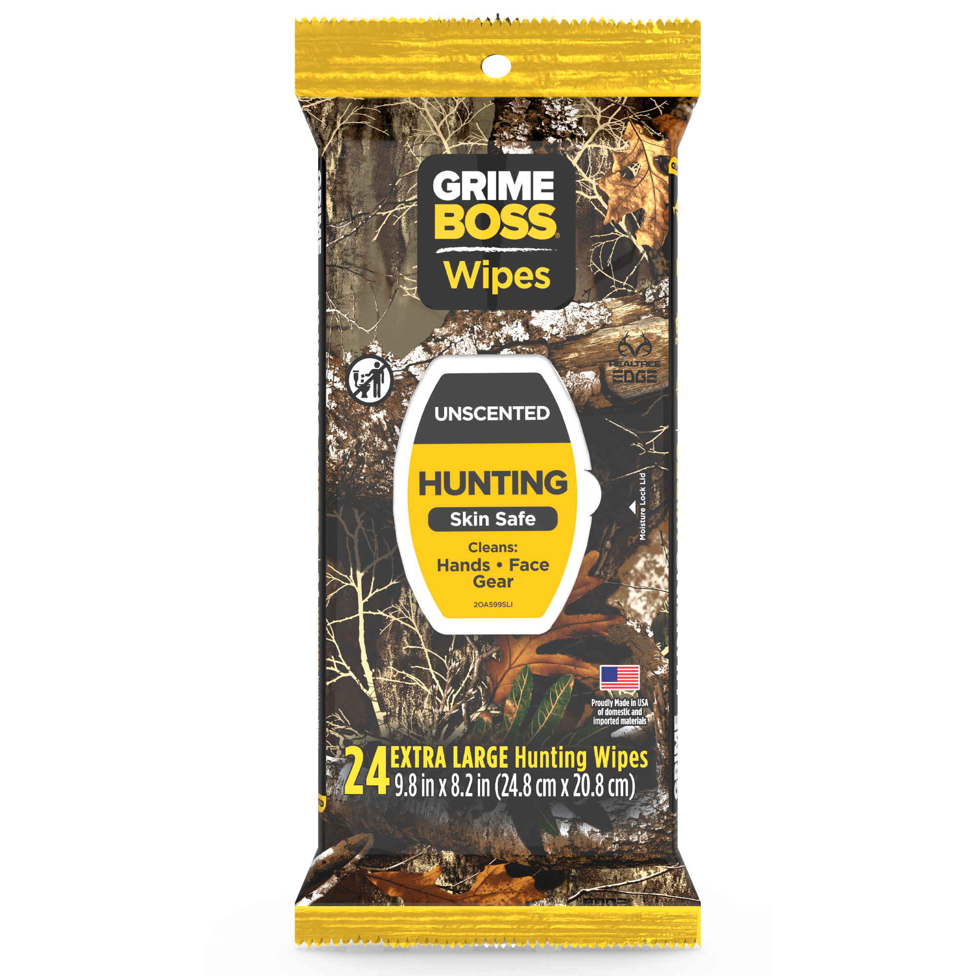 Grime Boss Hunting Wipes, 24CT
