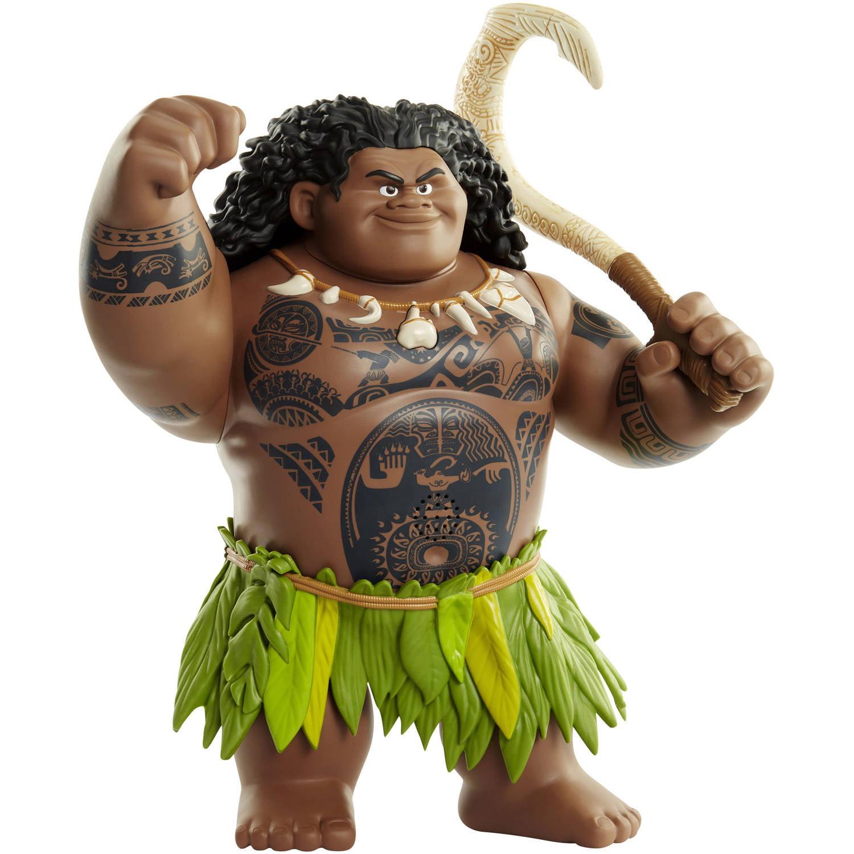 Details about Disney Moana Movie Mega Maui Figure 12 New Talking Toy Action  Singing Phrases