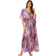 Caftan Dresses for Women V Neck Long Kaftan Cover Up Summer Maxi Dress