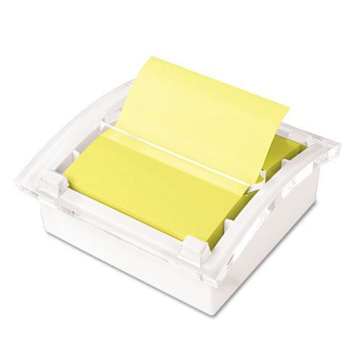 3M DS330WH Clear Top Pop-up Note Dispenser for 3 x 3 Self-Stick Notes, White