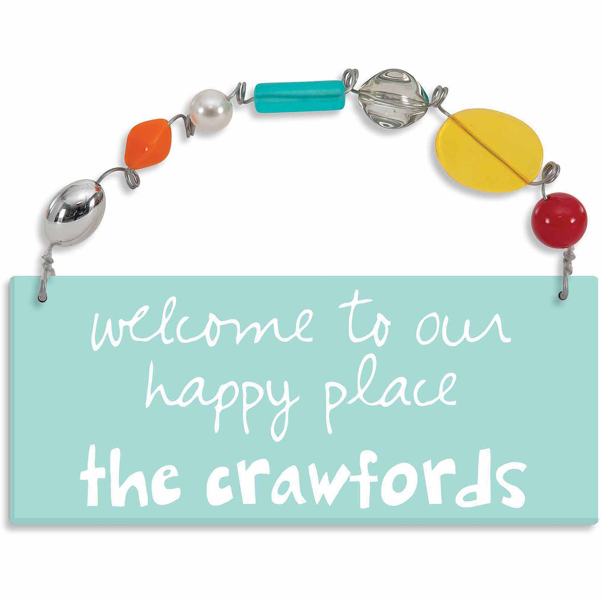 Personalized Sandra Magsamen Welcome To Our Happy Place Wall Plaque