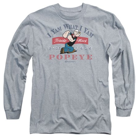 Popeye I Yam What I Yam Mens Long Sleeve Shirt