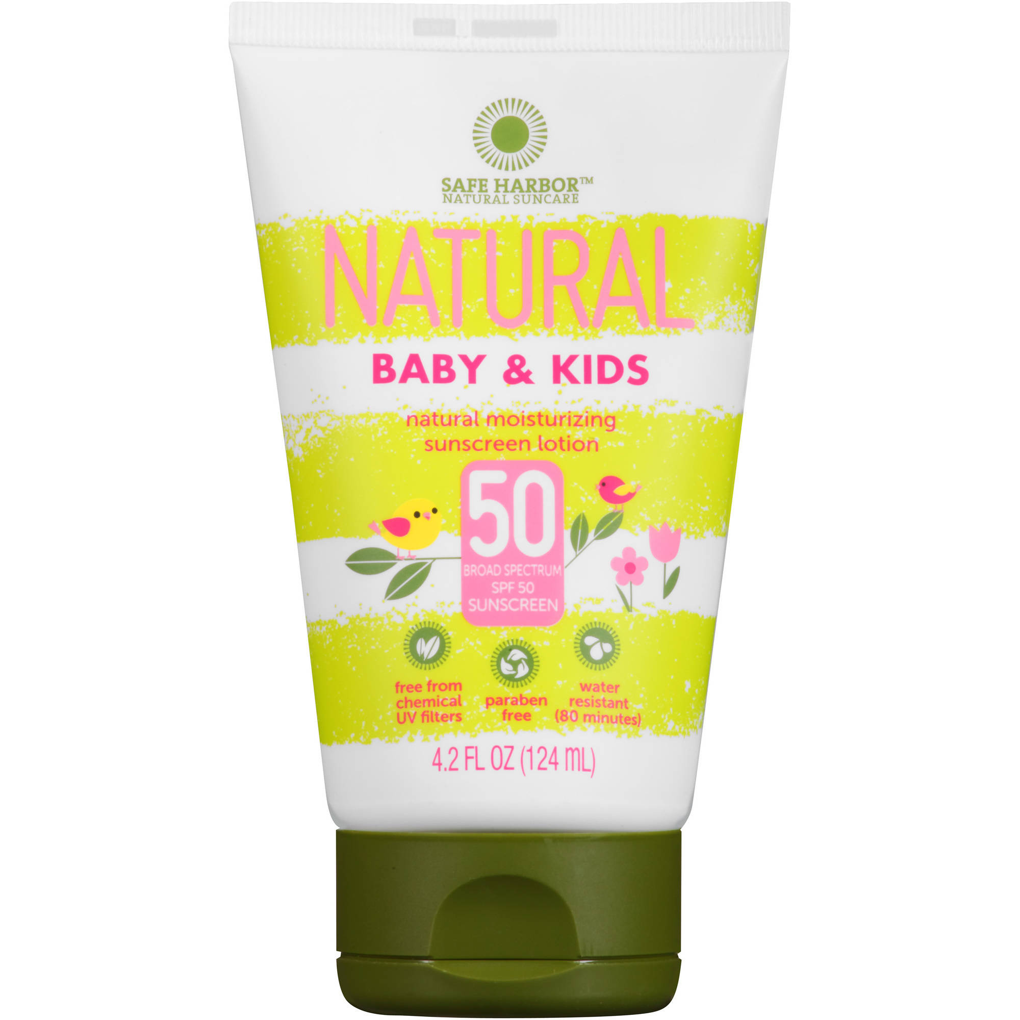 Safe Harbor Natural Baby & Kids Sunscreen Lotion, SPF 50, 4.2 fl oz