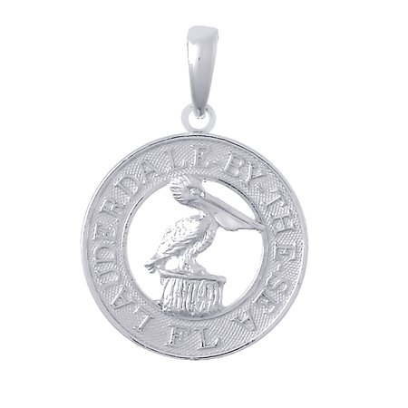 Million Charms 925 Sterling Silver Travel Charm  Lauderdale By The Sea  Florida  Pelican