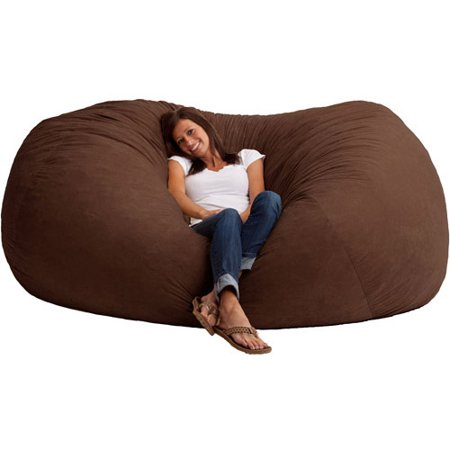 XXL 7' Fuf Comfort Suede Bean Bag, Multiple Colors - Giant Bean Bags