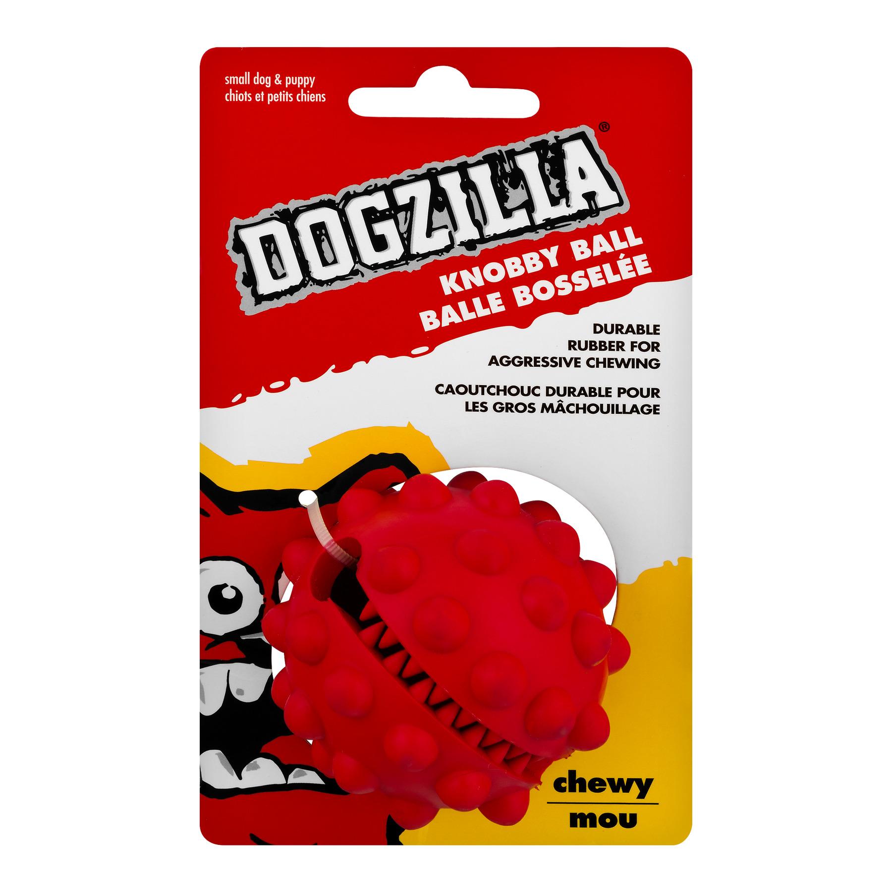 DOGZILLA KNOBBY TREAT BALL - SMALL