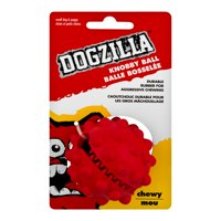 DogZilla Durable Rubber Dog Treat Ball Toy, Red , Small