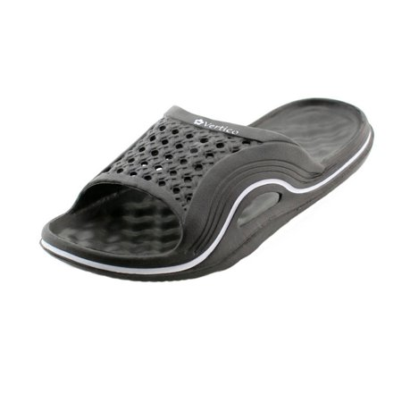 ed9d82a7f380 Vertico - Vertico Black Slide-On Women s Shower Sandal - Walmart.com