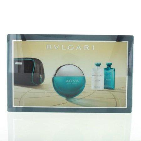 Aqua Gift - Bvlgari Aqua By Bvlgari 4 Piece Gift Set-3.4 Oz Eau De Toilette Spray,2.5 Oz After Shave Balm, 2.5 Oz Shower Gel,Pouch F