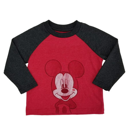 - Disney Mickey Mouse Infant & Toddler Boys Valentines Day Long Sleeve Shirt