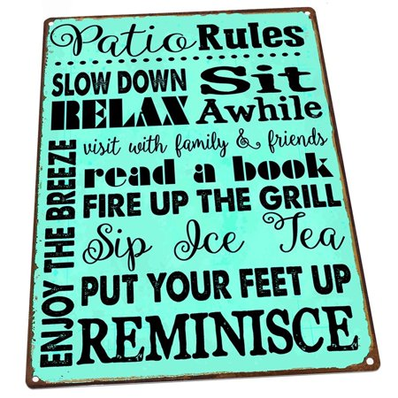 Turquoise Patio Rules 9