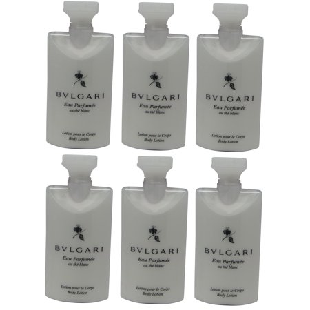 Bvlgari White Tea au the blanc Body Lotion Set of 6 ea 2.5oz Bottles.