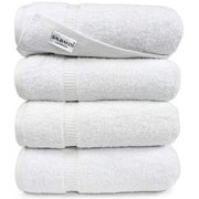 SALBAKOS Bath Towels Sets Luxury Hotel and Spa Quality Collection (White)
