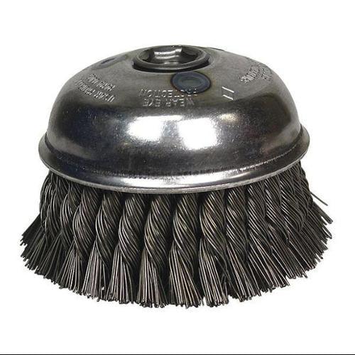OSBORN 33021 Knot Wire Cup Brush, 6 in.dia, 6000 rpm