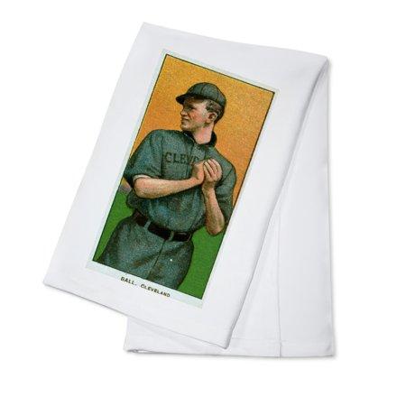 - Cleveland Naps - Neal Ball - Baseball Card (100% Cotton Kitchen Towel)