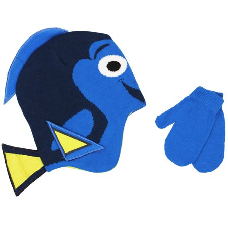 Dora Beanie (Beanie Cap - Disney - Finding Dory Face w/Gloves Set Toddler size)