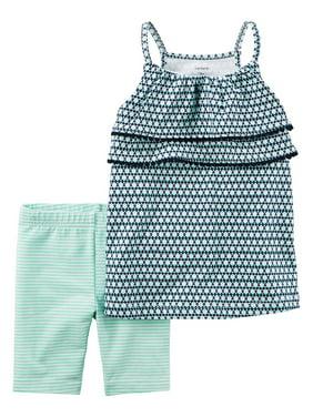 49fb5b494 Product Image Carter's Baby Girls' 2-Piece Geo Print Tank And Biker Shorts,  ...