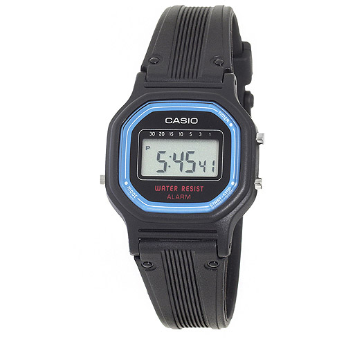 Casio Women's Daily Alarm Digital Watch, Black