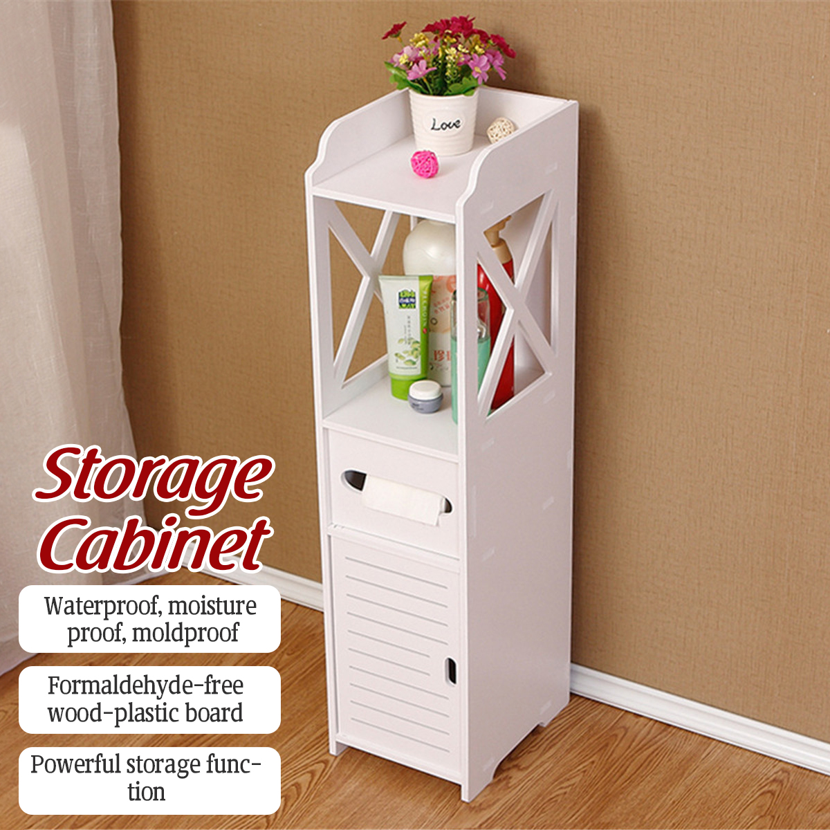 Wood Bathroom Cabinet Rack Corner Bathroom Storage Cupboard Floor Cabinet Toilet Tissue Storage Rack With Tissue Drawers Anti Corrosion Walmart Com Walmart Com