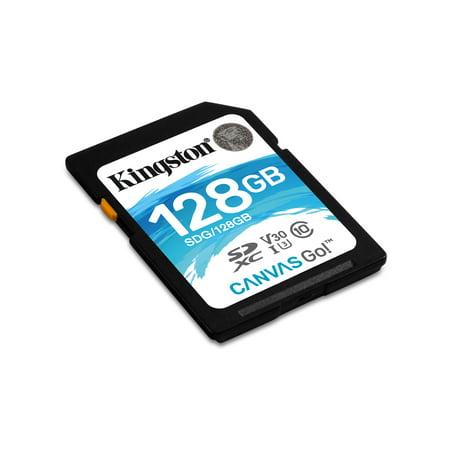 128GB SDXC Canvas Go 90R/45W CL10 U3 V30