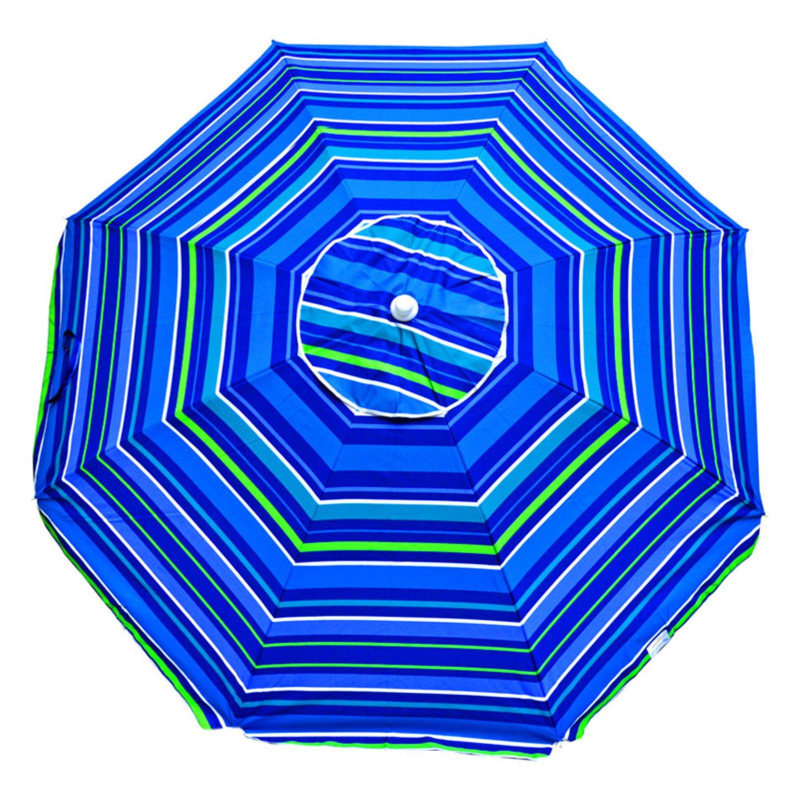 Shadezilla 7.5 ft. Wind Resistant Beach Umbrella with Dual Steel Rib Structure