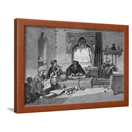 Notary Wood - Notary Writing Room at Girgch Egypt Framed Print Wall Art