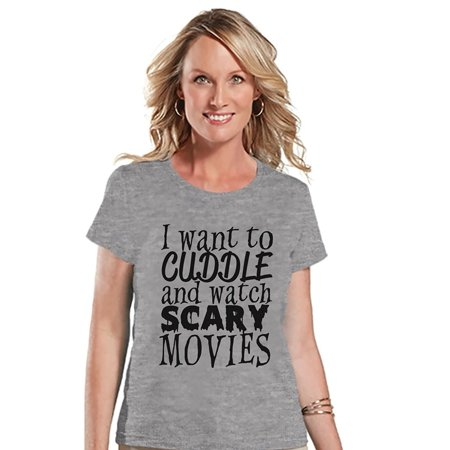 Custom Party Shop Womens Scary Movies Halloween T-shirt - X-Large