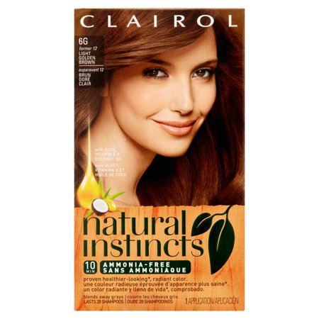 Clairol Natural Instincts Semi-Permanent Hair Color, Light Golden ...