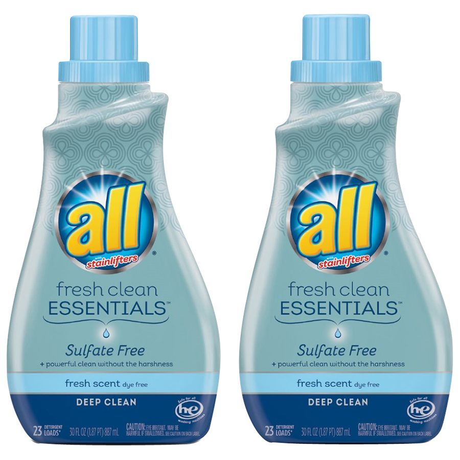ALL® Fresh Clean Essentials™ Sulfate Free Fresh Scent Liquid Laundry Detergent 2-30 fl. oz. Bottle