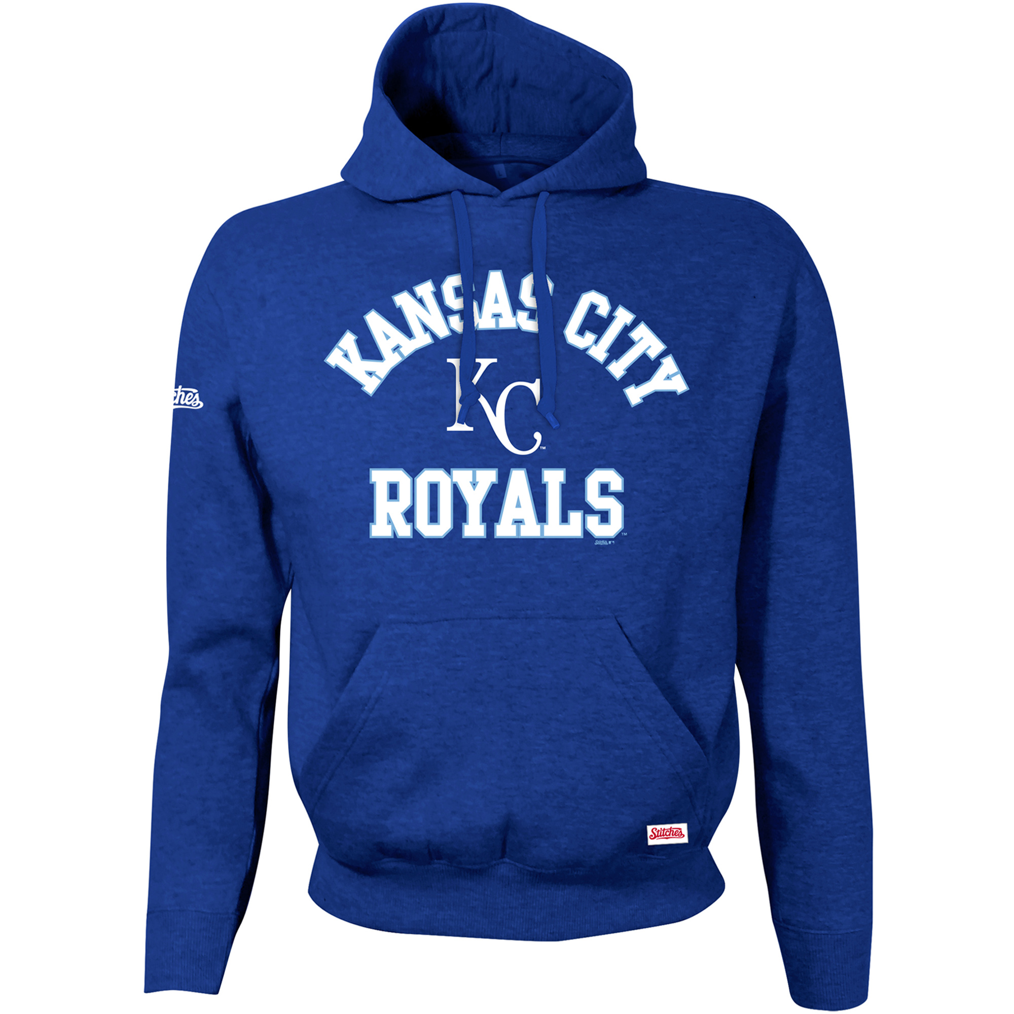 Kansas City Royals Stitches Youth Fleece Pullover Hoodie - Royal
